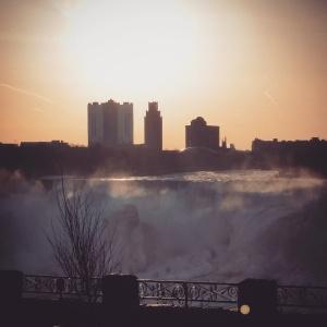 Sunrise over the Falls